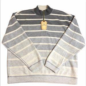 Tommy Bahama Flip Stripe Halt Zip Sweater
